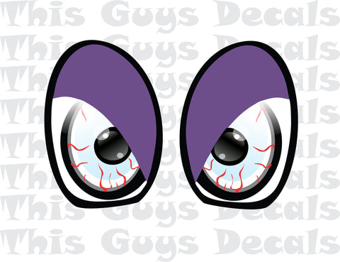 Printed Mini Cooper Eyes Purple