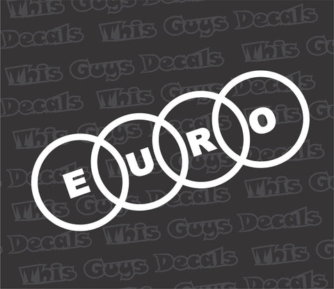 euro audi rings decal