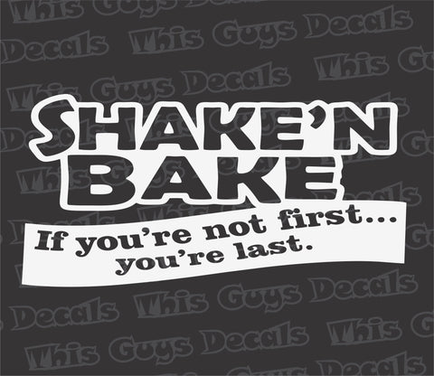 shake'n bake decal