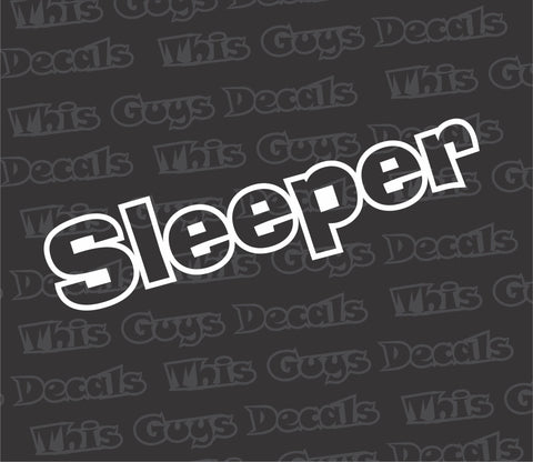 sleeper decal