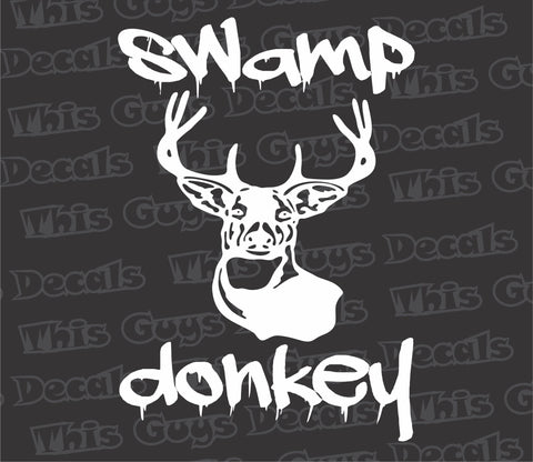 swamp donkey hunting decal