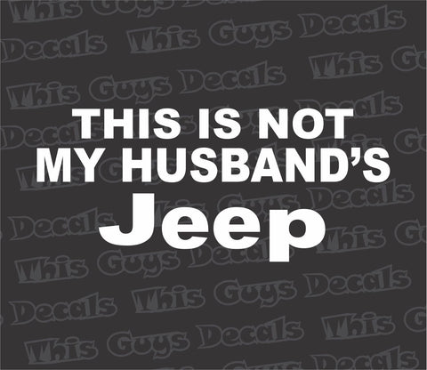 This is not my husbands jeep