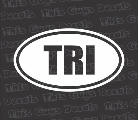 TRI oval decal