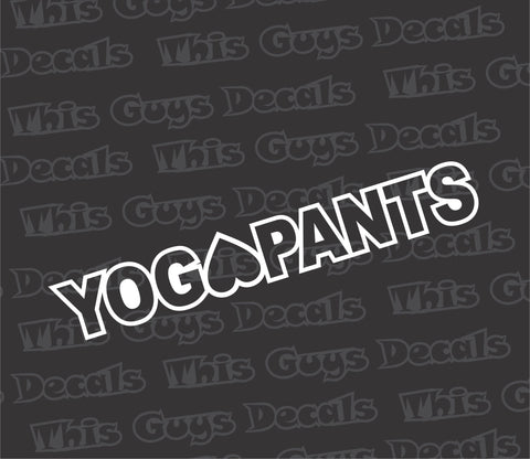 yoga pants decal
