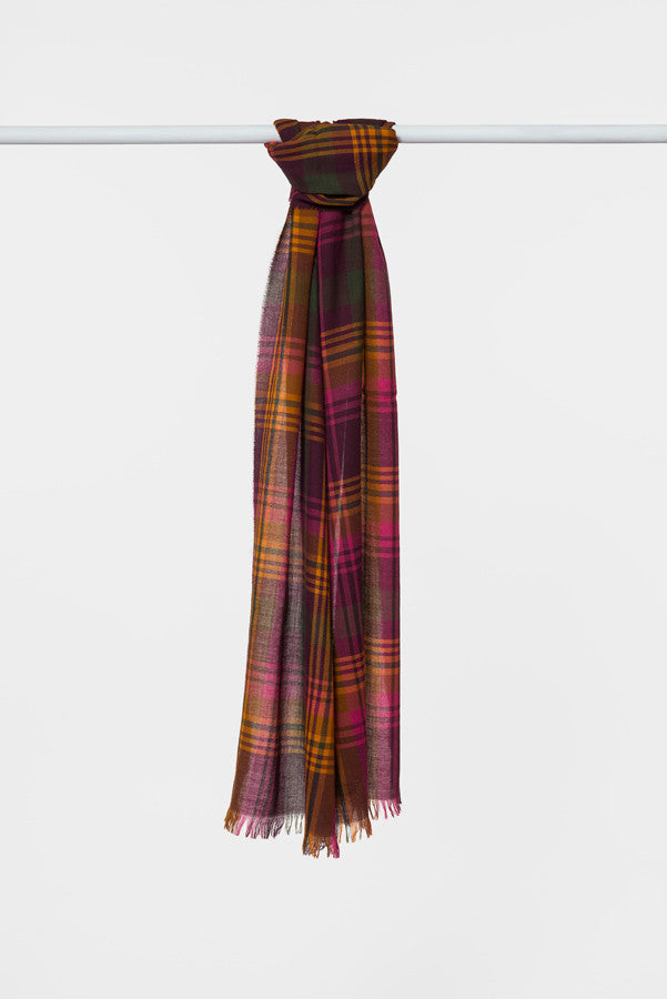 pink-orange-plaid-wool-scarf