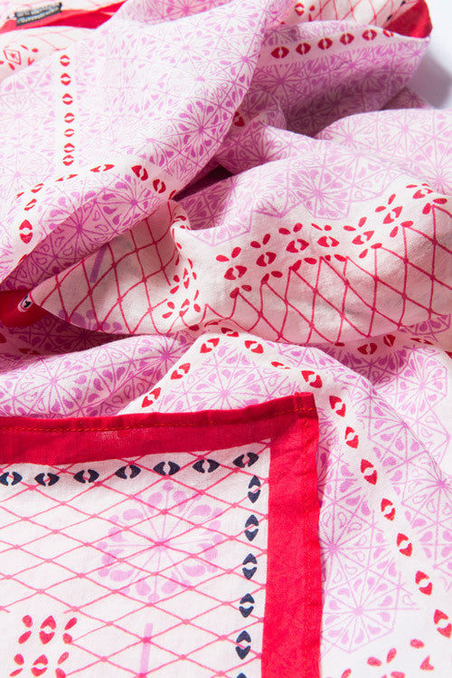 red-pink-square-cotton-scarf