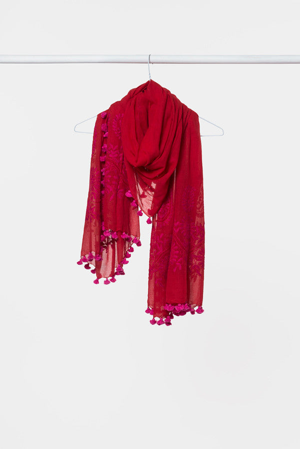 red-cotton-embroidery-scarf