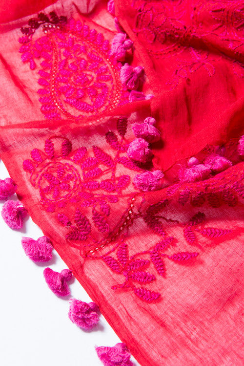 sustainable-red-cotton-embroidery-scarf