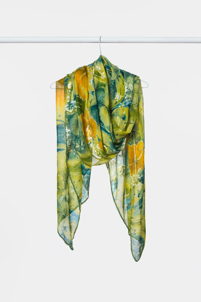 yellow-green-silk-scarf