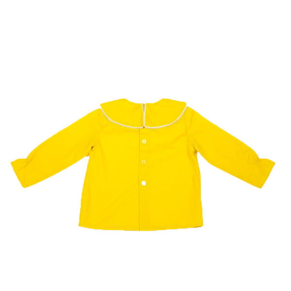 Collar Cape Blouse in Yellow