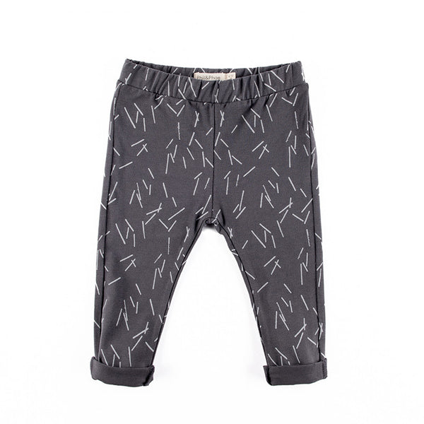 Jamie Printed Pants in Graphite Print
