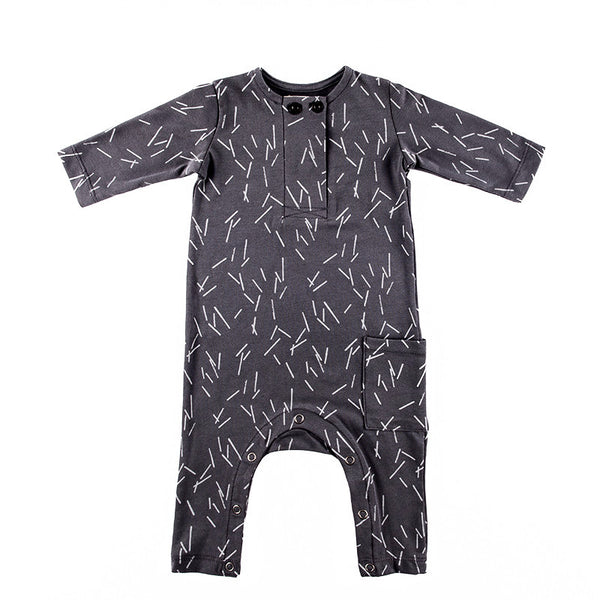 Rae One-piece in Graphite Print