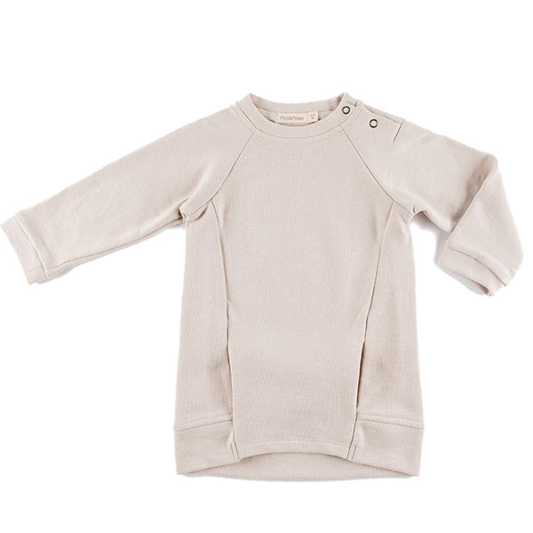 Malin Sweatshirt Dress in Oatmeal