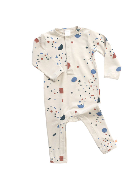 Geometry Long-Sleeve Onesie