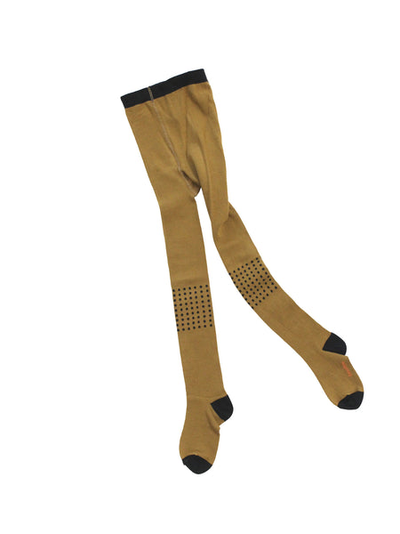 Dots tights in gold