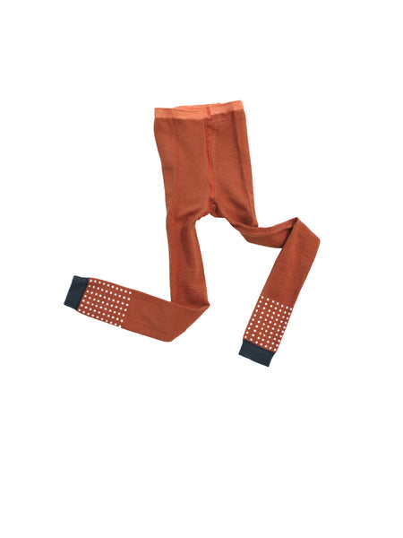 Dots leggings in terracotta