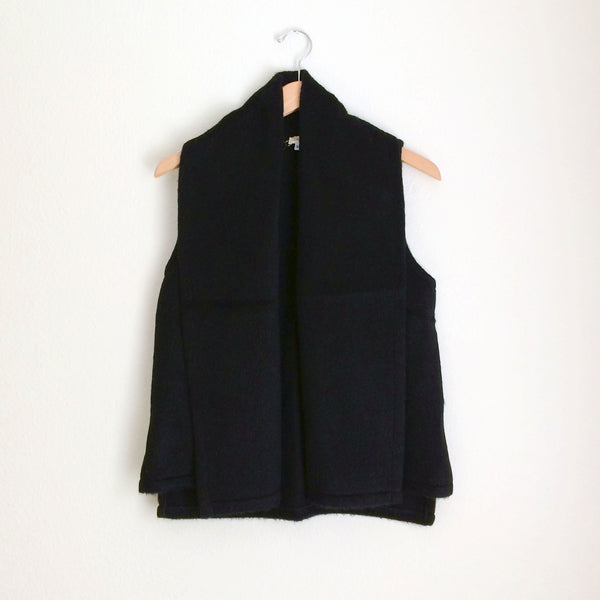 Emerson Vest in Black Mohair