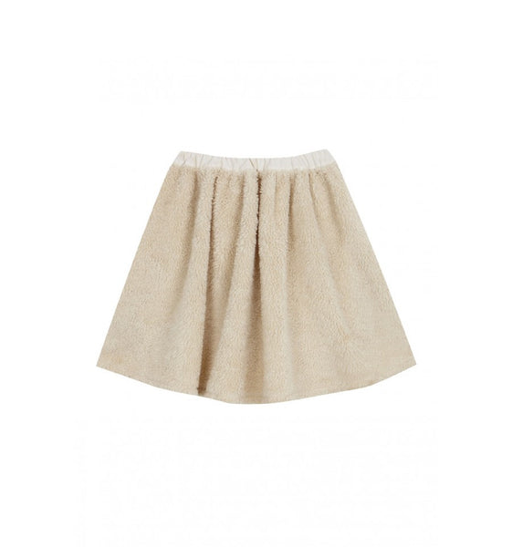 Fleece skirt in natural vintage