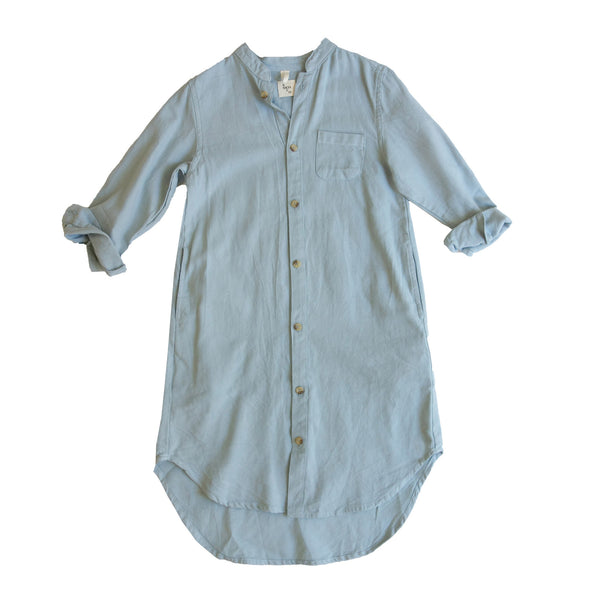 Georgia Shirt Dress in Dove