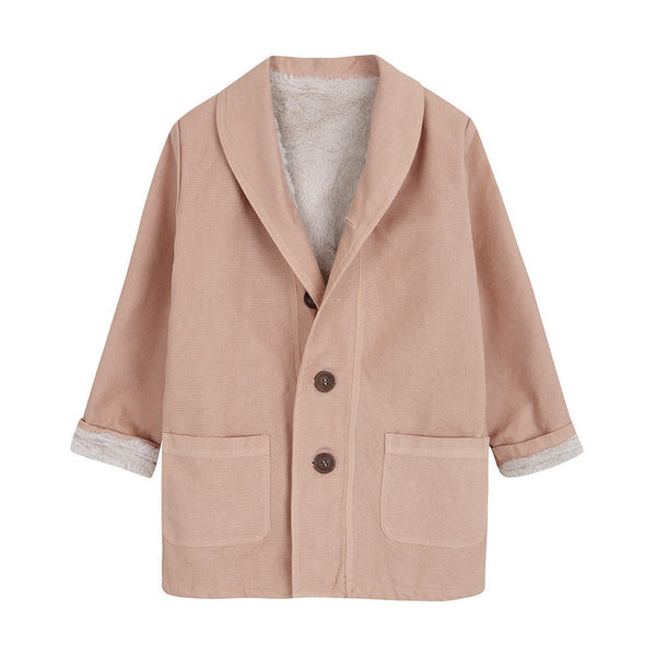 Lined overcoat in Vintage Pink