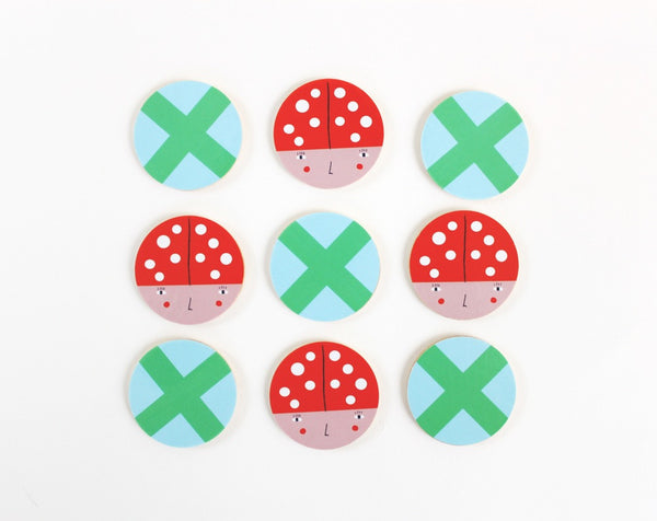 Tic Tac Toe Wooden Game