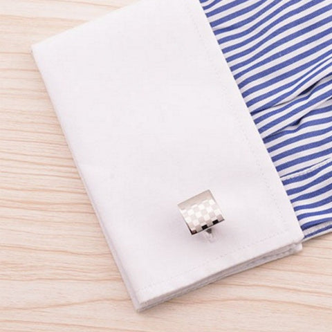 Six By Six Texture Grid Cuff Links