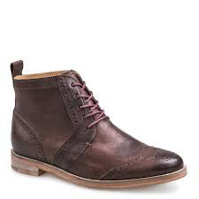 Olympus Low Brogue Boot in Coffee Bronze