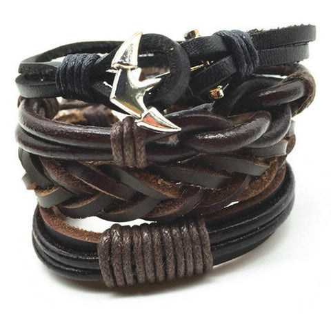 Anchor Rhapsody, Leather Bracelet Stack