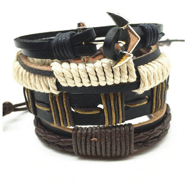 Anchor Gravity, Leather Bracelet Stack