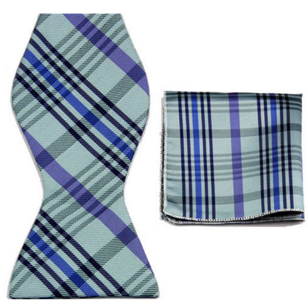 Two Tone, Bow Tie and Pocket Square Set