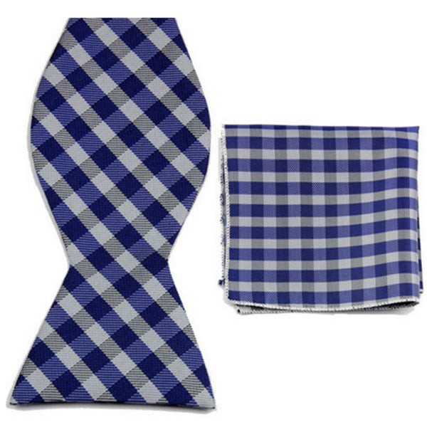 Something Borrowed Something Blue, Bow Tie and Pocket Square Set
