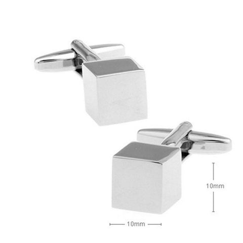 Solid Cube Cuff Links