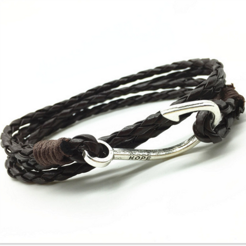 Hope Something Fishy Is Going On Leather Bracelet