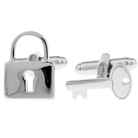 Lock and Key Secret Cuff Links