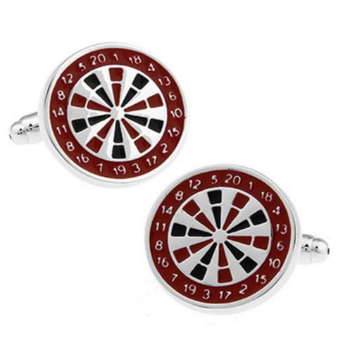 Pub Dart Board Cuff Links