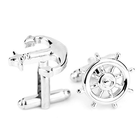 Wheel and Anchor Cuff Links