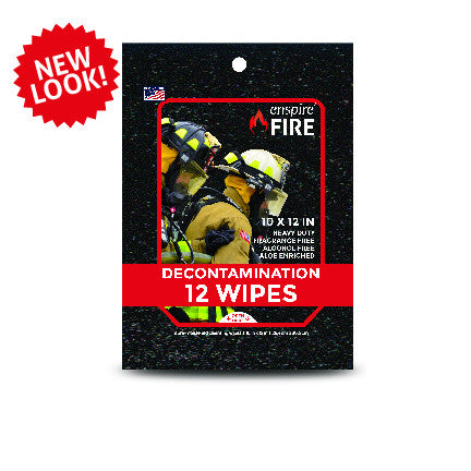 "enspire® Fire Decontamination Wipes 10"" X 12"" (12 Pack) 48 ea"