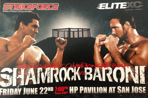 4x6 Shamrock vs Baroni Collectors event card