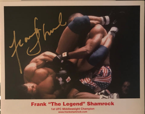 Autographed 8x10 1st UFC Middleweight Champion in 14 seconds