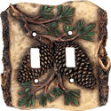 Pine Cone Switch Plate Covers