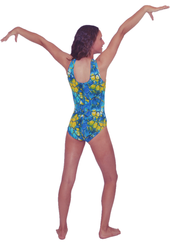 Blue & Yellow Leotard