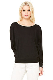 """I expect miracles: Love is real"" Black Long Sleeve Dolman"