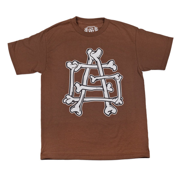 Bones Logo T-Shirt Brown
