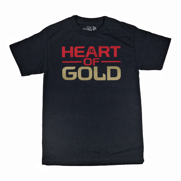 Gold Heart T-Shirt Black