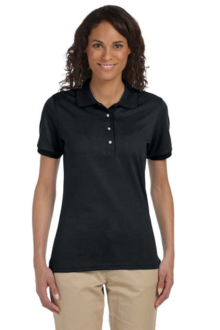 JERZEES WOMENS STAIN RESISTANT BLEND SHORT SLEEVE POLO SHIRT 437W