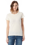 Alternative 04860C1 Womens Vintage Distressed Short Sleeve Crewneck T-Shirt White Front