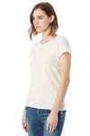 Alternative 04860C1 Womens Vintage Distressed Short Sleeve Crewneck T-Shirt White Side