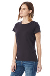 Alternative 04860C1 Womens Vintage Distressed Short Sleeve Crewneck T-Shirt Smoke Grey Side