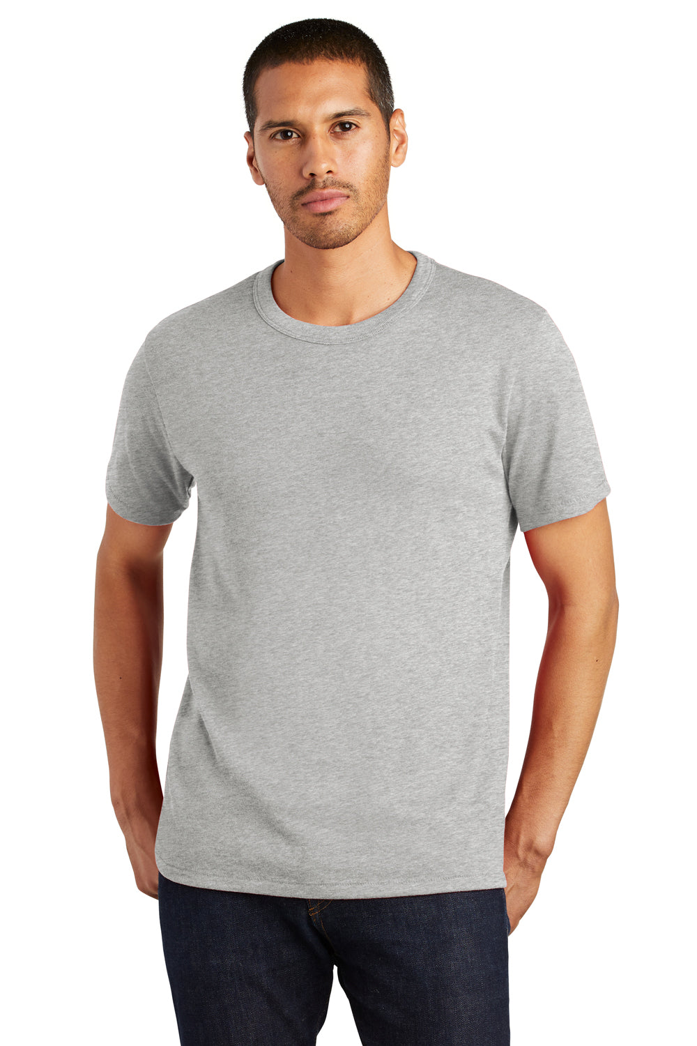 Alternative AA5050 Mens The Keeper Vintage Short Sleeve Crewneck T-Shirt Silver Grey Front