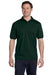 Hanes 054 Mens EcoSmart Short Sleeve Polo Shirt Forest Green Front